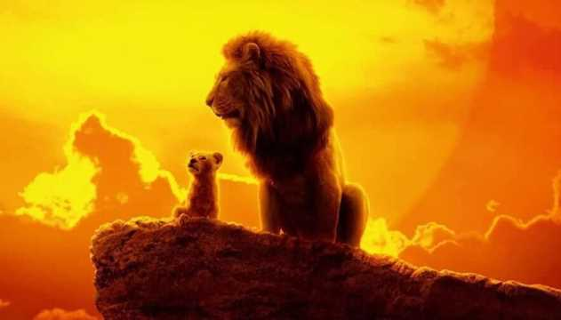 the lion king  mufasa  u0026 simba gaze upon the horizon on a