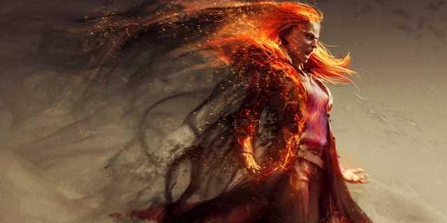 Dark Phoenix Concept Art Features A Fiery Jean Grey