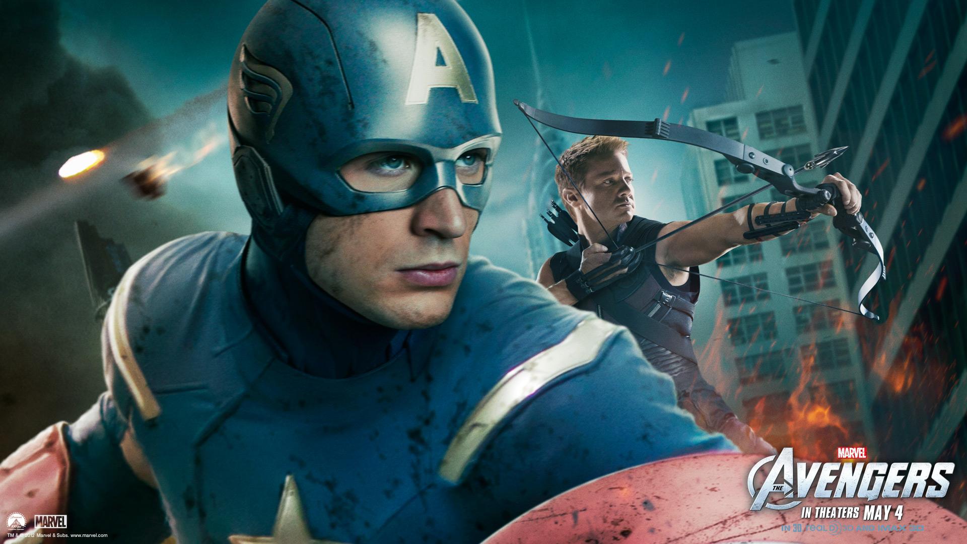 Avengers Avengers Wallpaper 4 Captain American Hawkeye Wallpaper